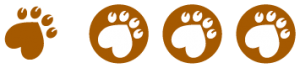 Three coloured Conscious rating icons for animal welfare