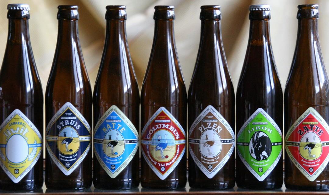 7 beer bottles of different beers of Brouwerij 't IJ