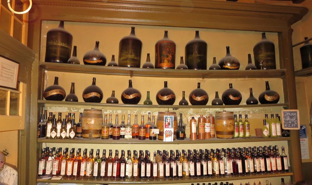 Behind the bar in Wynand Fockink