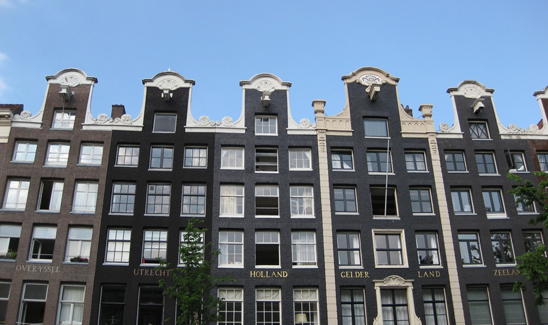 A row of canal houses