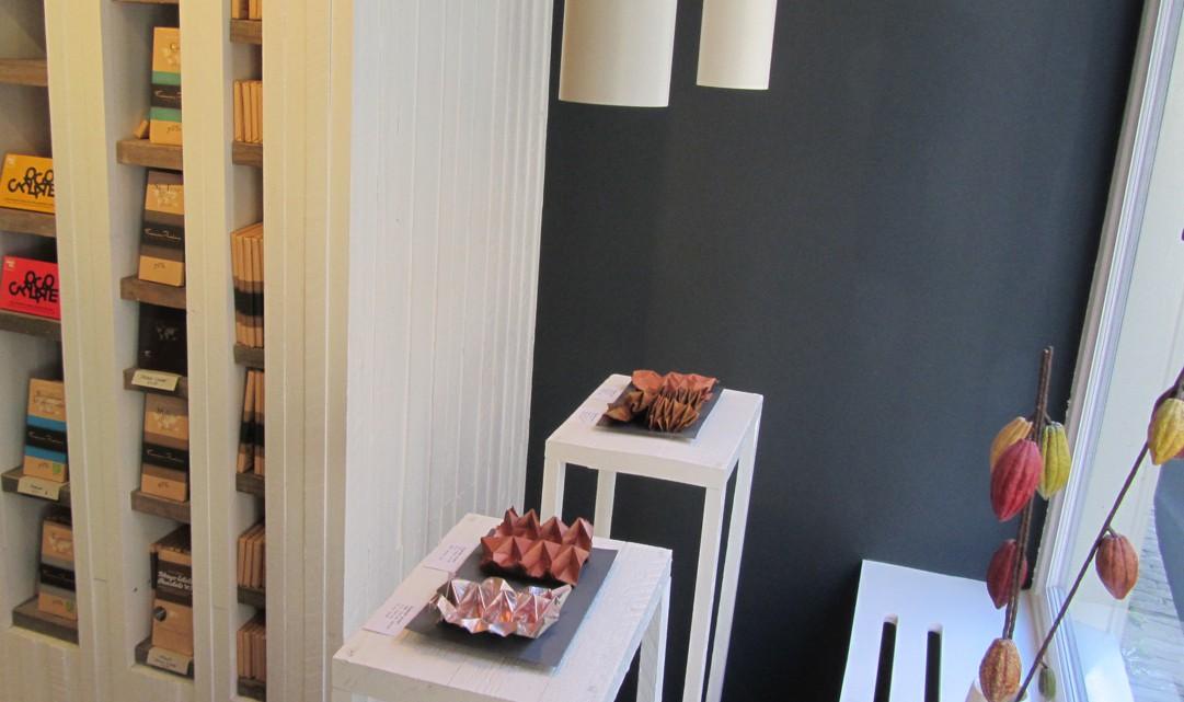 Creative display of chocolate at Chocolátl
