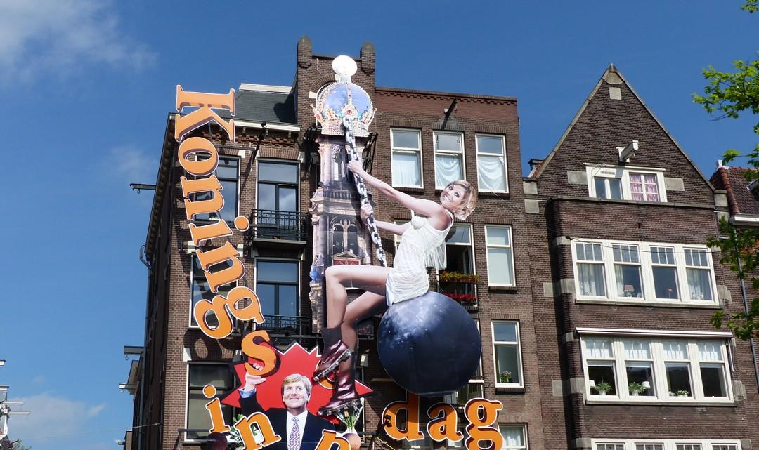 Street art against the gable