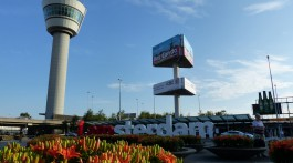 Control tower and I amsterdam sign