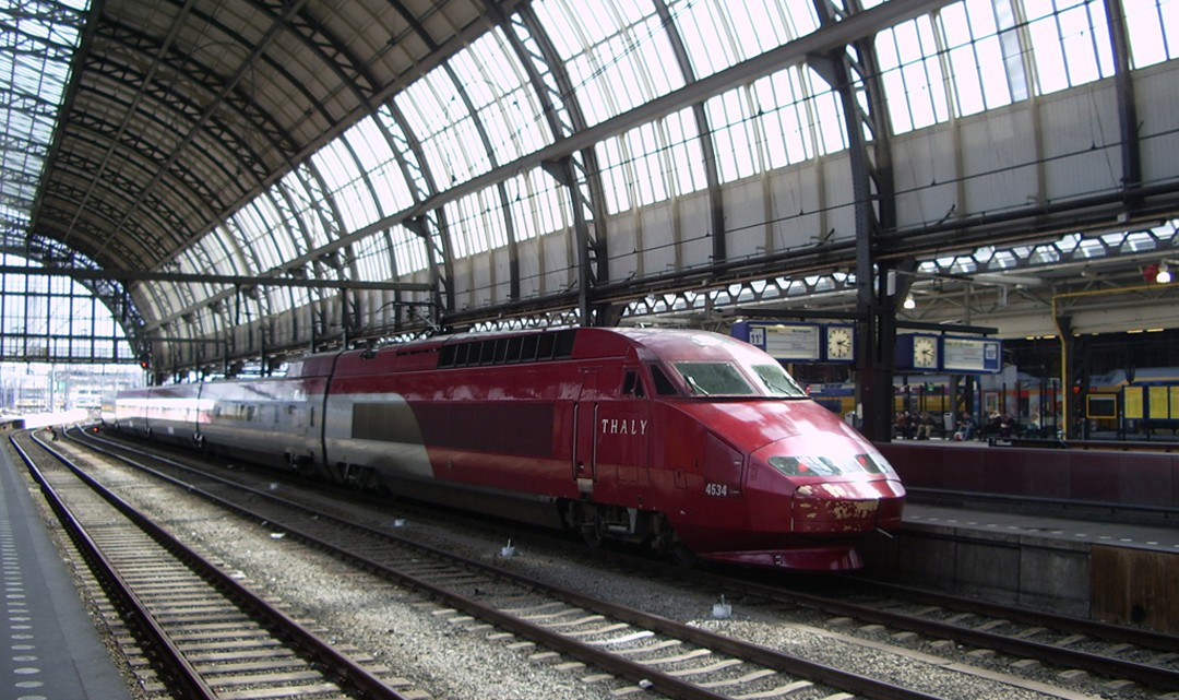 Thalys train on Amsterdam CS