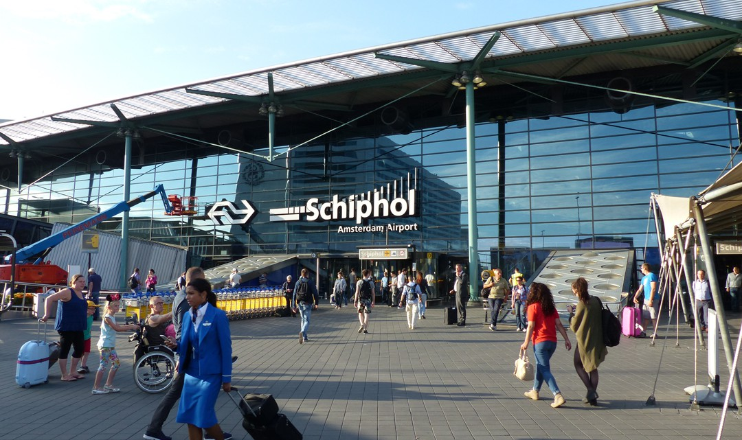 The square in front of the Schiphol building