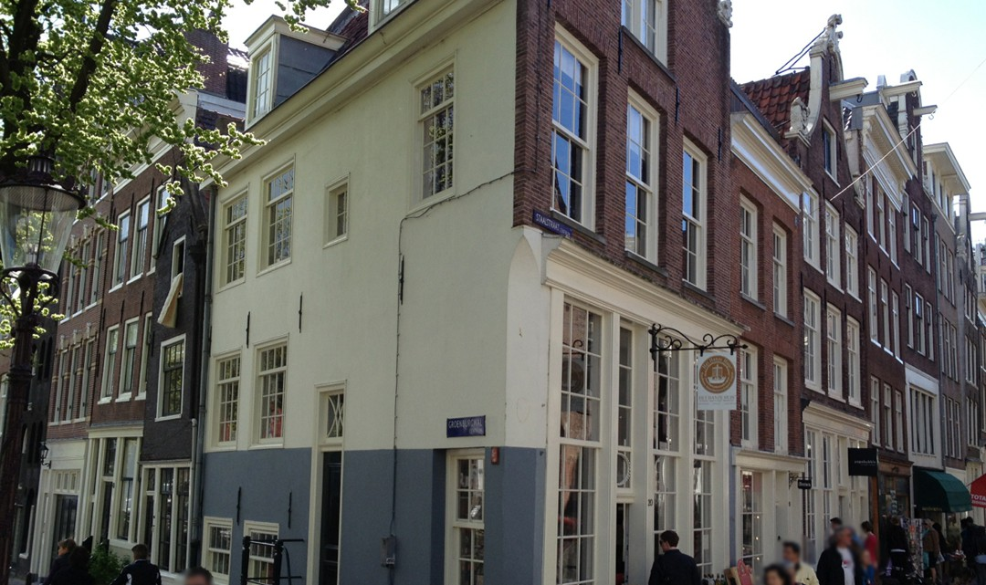 Exterior of the corner building