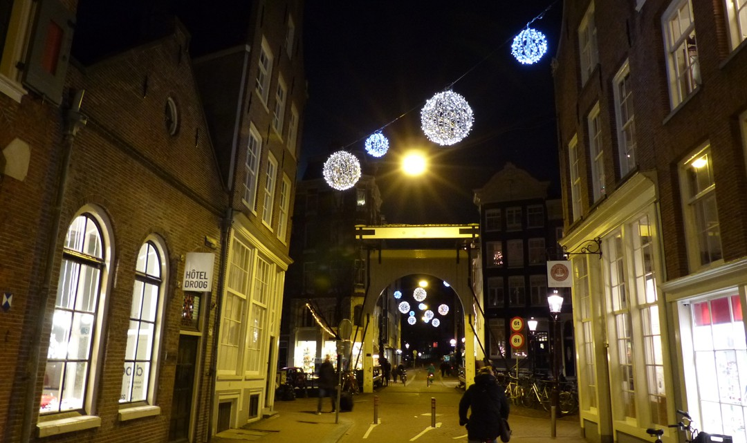 Staalstraat and bridge by night