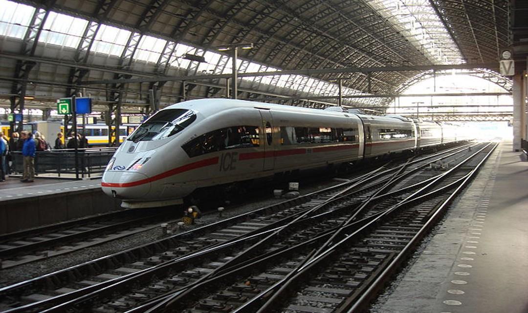 ICE train on Amsterdam CS