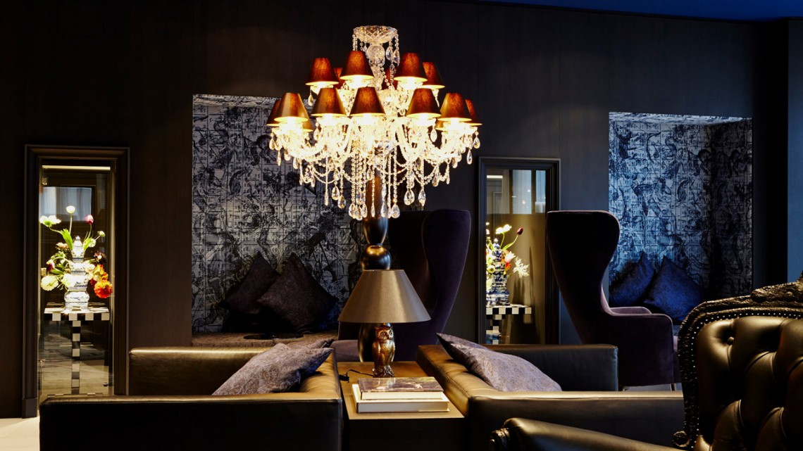 The lounge of the Andaz Hotel