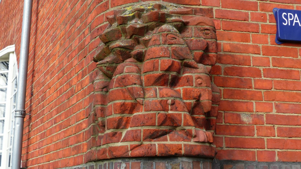 A typical Amsterdamse School detail carved in stone
