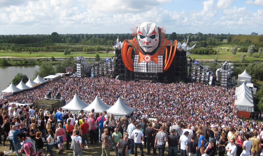 Large stage with voodoo head