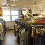 A view over the small, but well stocked men's department