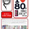 Prik Bar I love 80's flyer