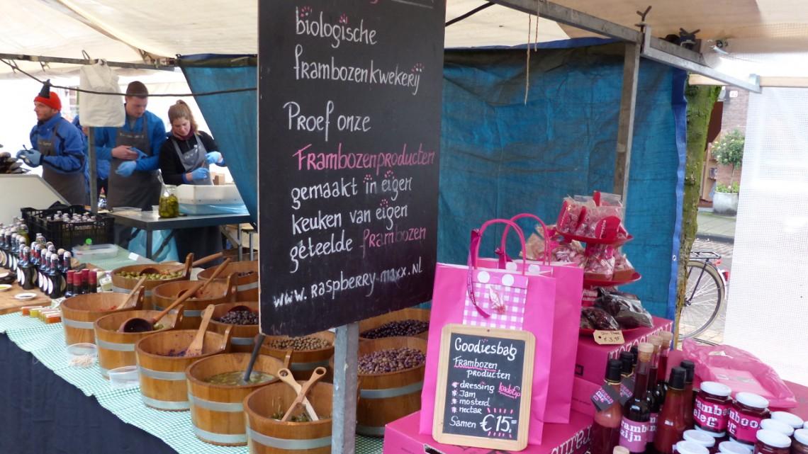 The stall of Raspberry Maxx at zuiderMRKT