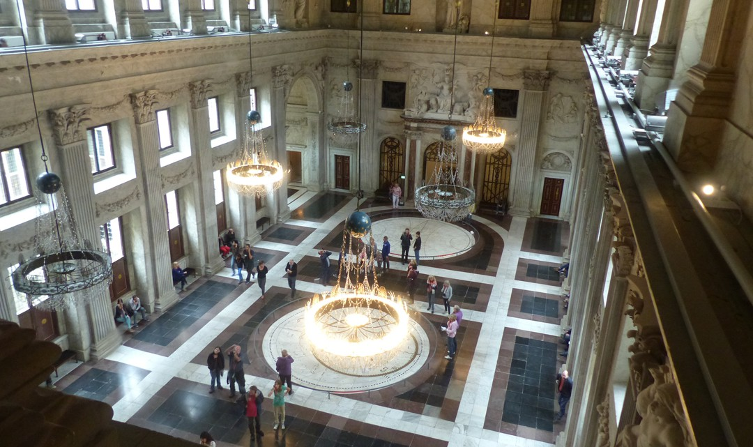 A view from above into the majestic Citizens Hall