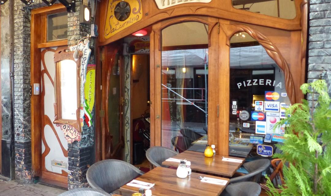 The Art Nouveau window frames