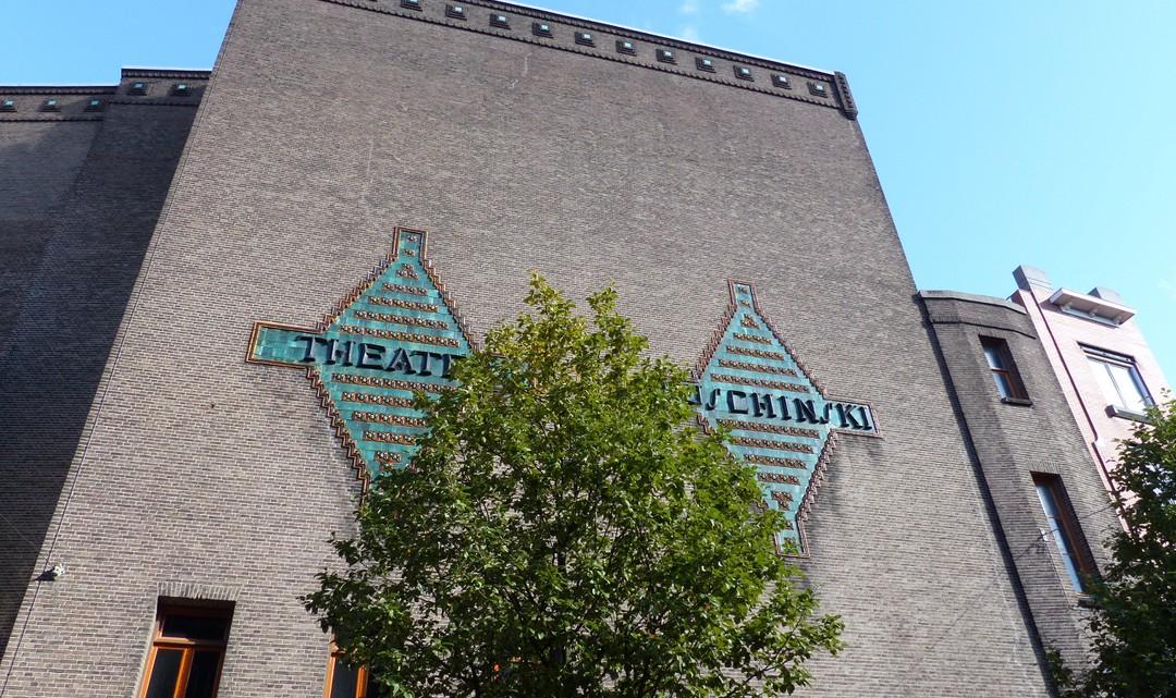 "Tiled sign stating ""Theater Tuschinksi"""