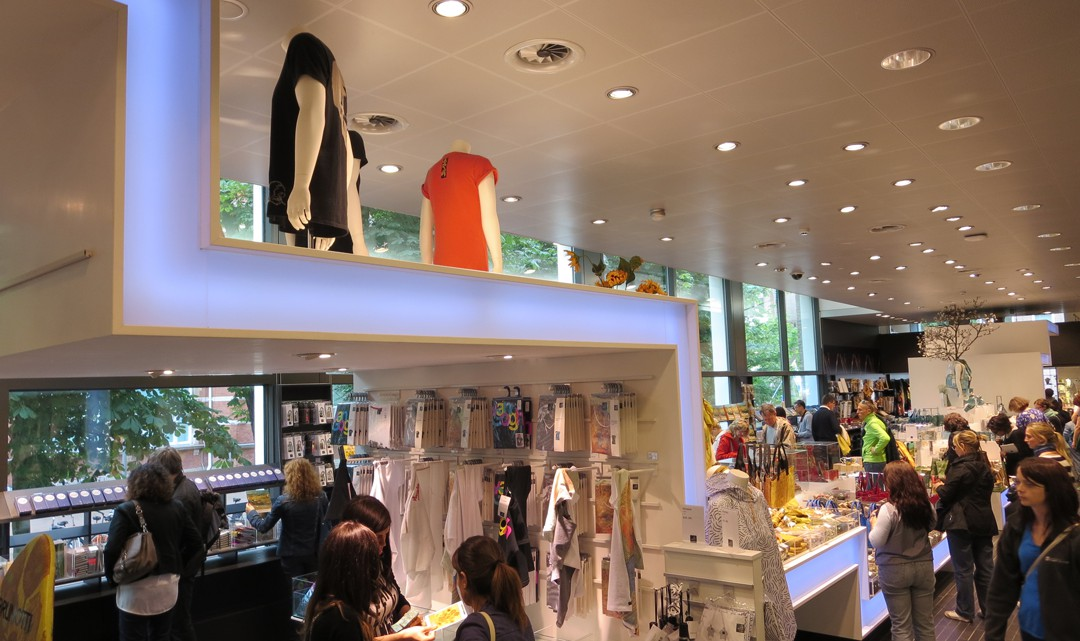 Overview of the shop