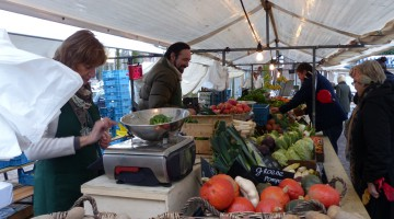 The vegetable stall from the cooperation