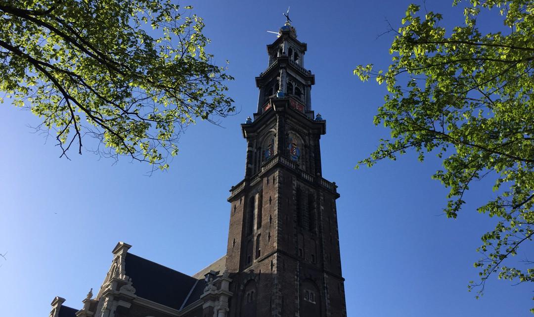 Westertoren as seen from Prinsengracht