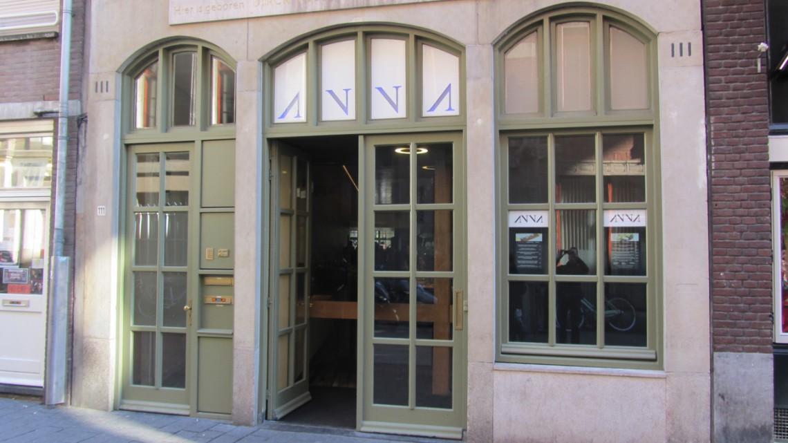Entrance to Restaurant Anna, Warmoesstraat Amsterdam
